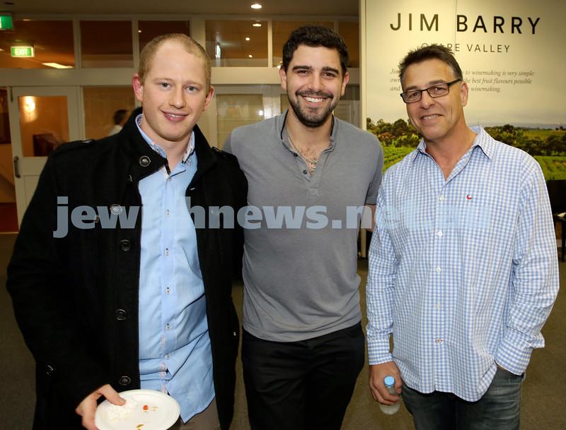 2015 Maccabi NSW Annual Jewish Sports Awards. Marcus Schweizer, Simon Molnar, Kevin Koton.