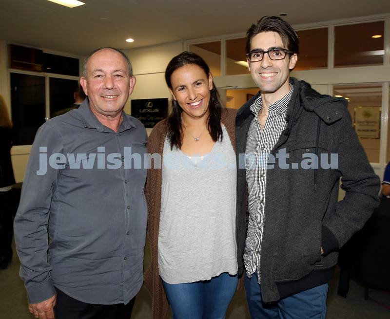 2015 Maccabi NSW Annual Jewish Sports Awards. Mick Vasin,Tali & David Weiner.