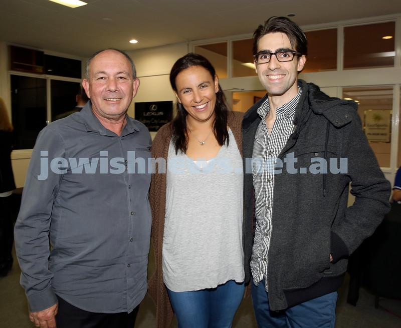 2015 Maccabi NSW Annual Jewish Sports Awards. Mick Vasin,Tali & David Weiner.