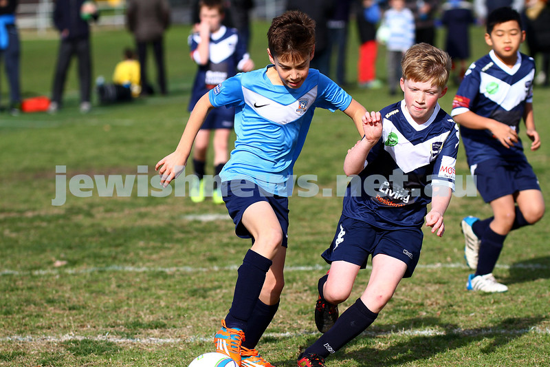 7-6-15. Maccabi U 11 Hawks V Waverley.  Photo: Peter Haskin