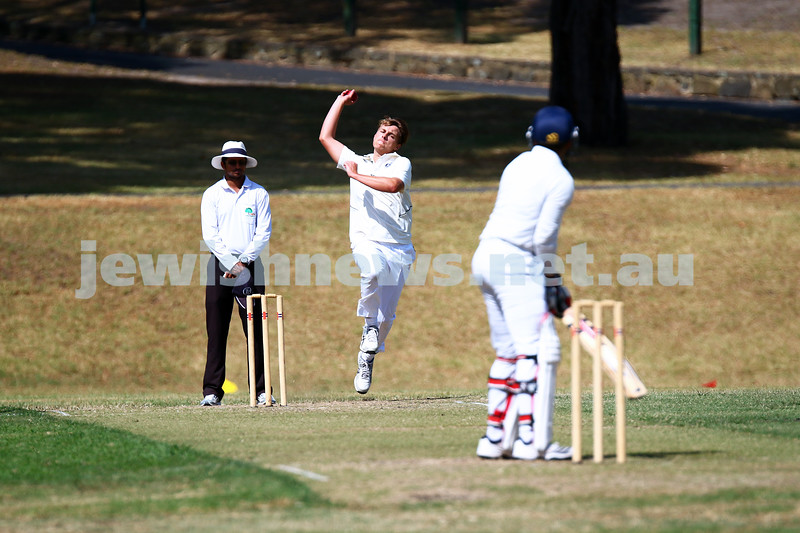 6-3-16. Maccabi Cricket Second XI fielding during their semi final win over South Yarra at Como Park.  Photo: Peter Haskin