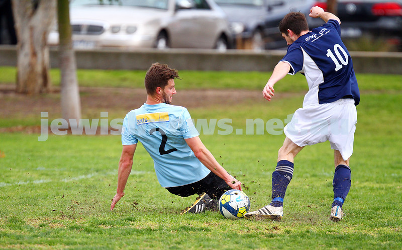30-8-15. Maccabi soccer 3rds. Final game drew with  Bayside Argonauts 1-1. Photo: Peter Haskin