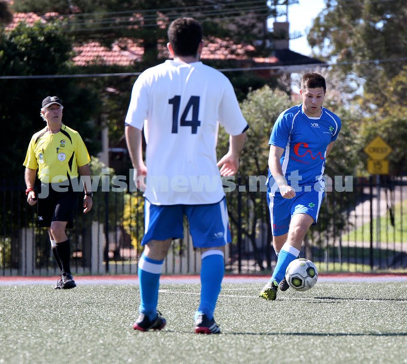 Maccabi Soccer Grand Final at Hensley Athletic Field. Mac A vs Mac B. Pic Noel Kessel.