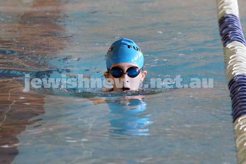 Maccabi Swimathon at Moriah College pool. Talya Sarusi. Pic Noel Kessel.