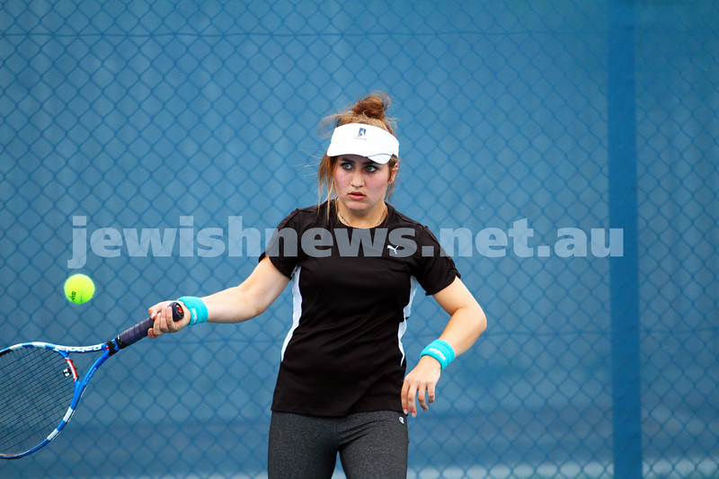28-2-15. Maccabi Tennis at the Leon Haskin Tennis Centre. Photo: Peter Haskin