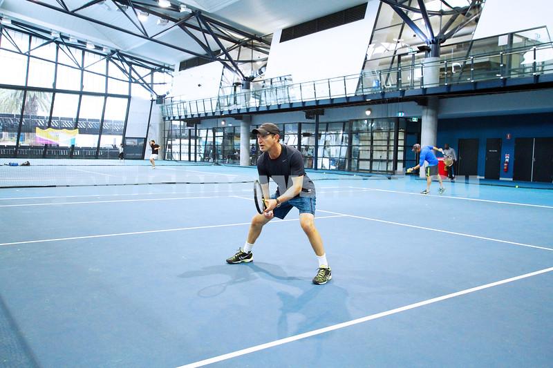 25-4-15. Maccabi tennis. Victoria v NSW tournament at Melbourne Tennis Centre indoor courts. Photo: Peter Haskin