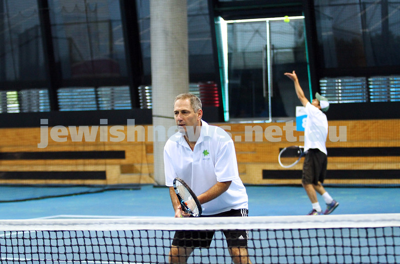25-4-15. Maccabi tennis. Victoria v NSW tournament at Melbourne Tennis Centre indoor courts. Photo: Peter Haskin