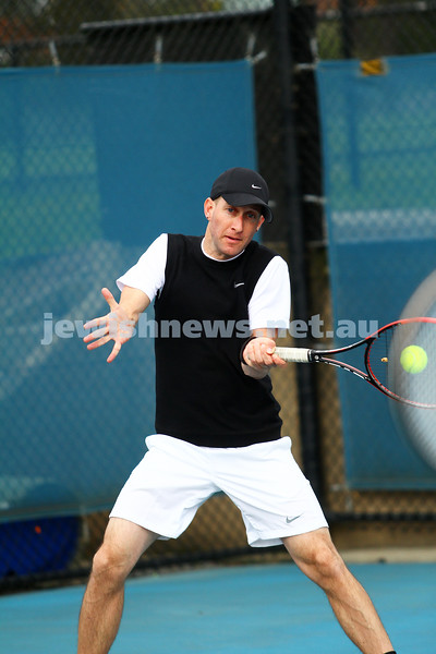 29-8-15. Maccabi Tennis. Semi final v Wellington. Asaf Drori. Photo: Peter Haskin