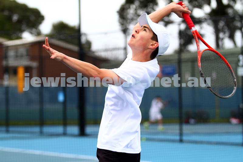 29-8-15. Maccabi Tennis. Semi final played at the Leon Haskin. Arthur Kaganovitch. Photo: Peter Haskin