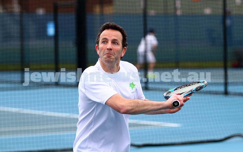 29-8-15. Maccabi Tennis. Semi final played at the Leon Haskin. Joel Fredman . Photo: Peter Haskin