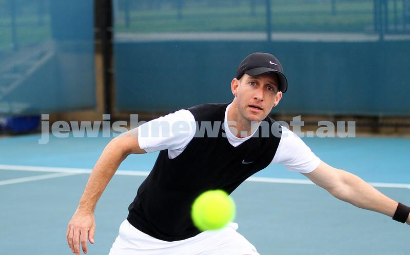 29-8-15. Maccabi Tennis. Semi final v Wellington. Asaf Drori. Photo: Peter Haskin
