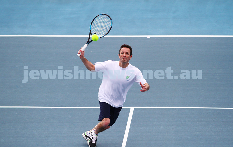 29-8-15. Maccabi Tennis. Semi final played at the Leon Haskin. Joel Fredman . Photo: Peter Haskin
