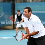 29-8-15. Maccabi Tennis. Semi final v Wellington. Asaf Drori (left), Asaf Nagar. Photo: Peter Haskin