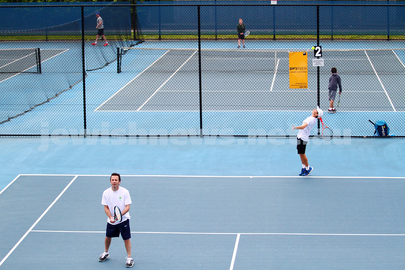 29-8-15. Maccabi Tennis. Semi final played at the Leon Haskin. Photo: Peter Haskin