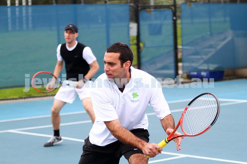 29-8-15. Maccabi Tennis. Semi final played at the Leon Haskin.  Asaf Nagar . Photo: Peter Haskin