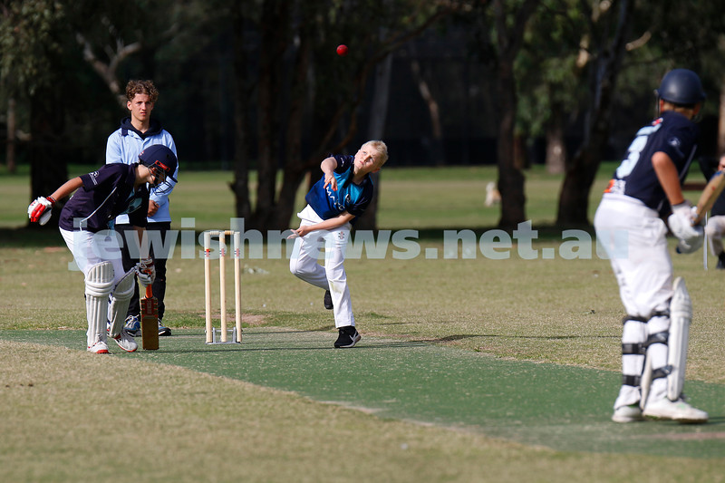 15-3-20. Maccabi Ajax Junior Cricket Club U 13 grand final versus Kew. Kew defeats Maccabi on the last ball of the day, needing four runs to win, the Kew batsman hits a six for victory. Photo: Peter Haskin