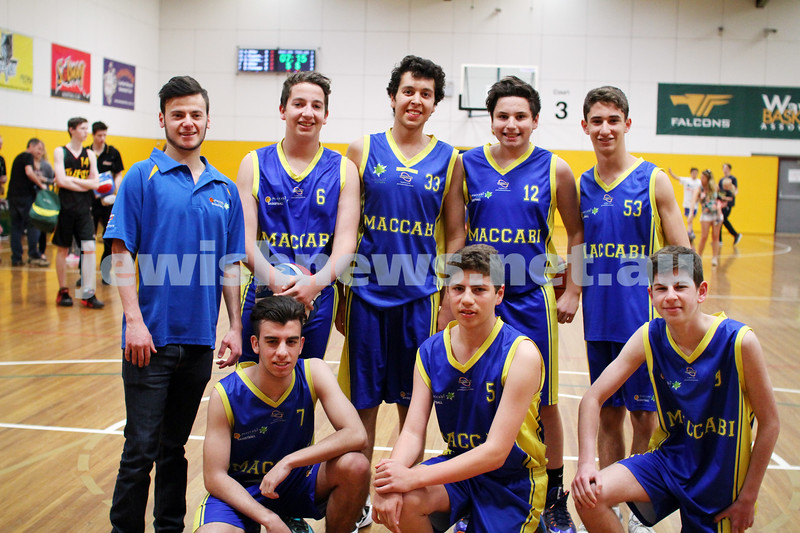 14-9-14. Basketball. Maccabi U 16 Cavaliers lost to Tooronga Park 19 - 39 in the grand final at Waverley Basketball centre. Photo: Peter Haskin