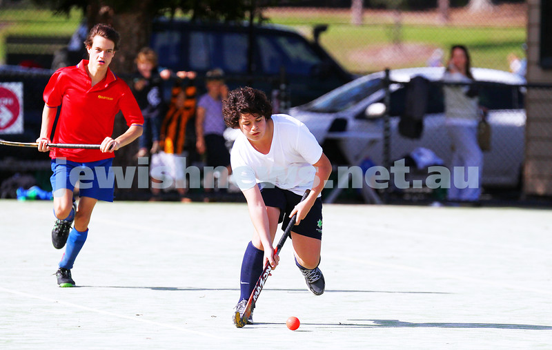 3-5-15. Maccabi U 16 Hockey drew with Hawthorn 1 - 1 at Albert Park. Photo: Peter Haskin