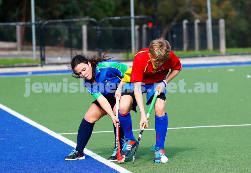 21-5-17. Maccabi U16 Hockey def Hawthorn 6 - 0. Photo: Peter Haskin