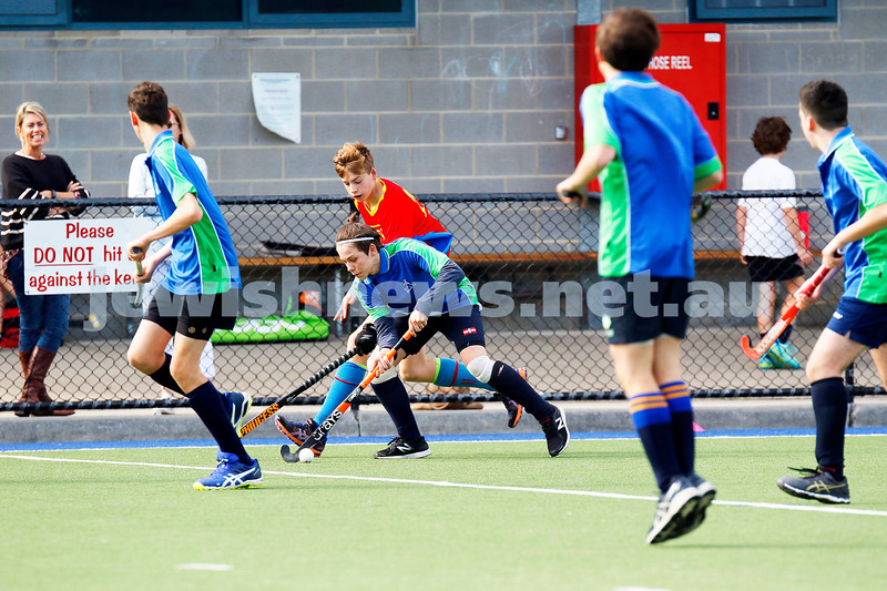 21-5-17. Maccabi U16 Hockey def Hawthorn 6 - 0. Photo: Peter Haskin