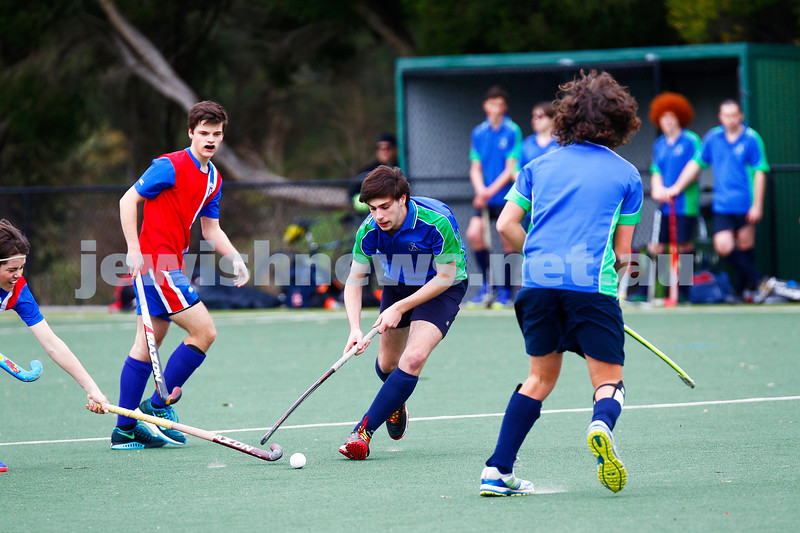 10-9-17. Premiership for Maccabi U16 Hockey. Maccabi U16 Defeated KBH Brumbies 4 - 1. Photo: Peter Haskin