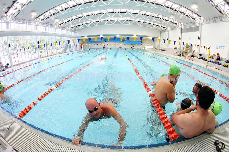 30-11-14. Maccabi Swimming Club, 2014 swimathon. More than 120 people took to the pool at Bialik College during the course of the 12 hours swimathon from 7am to 7pm.  Photo: Peter Haskin