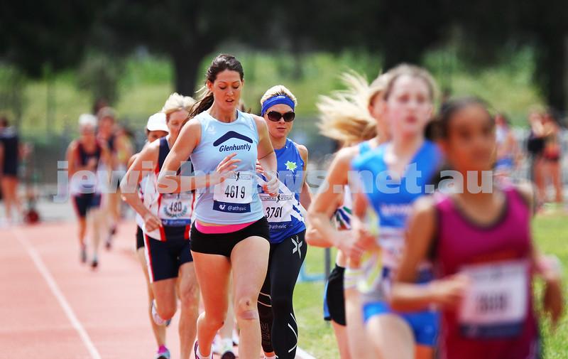 25-10-14. Maccabi Athletics. Athletics Victoria Shield, Knox. Amanda Kramer.  Photo: Peter Haskin