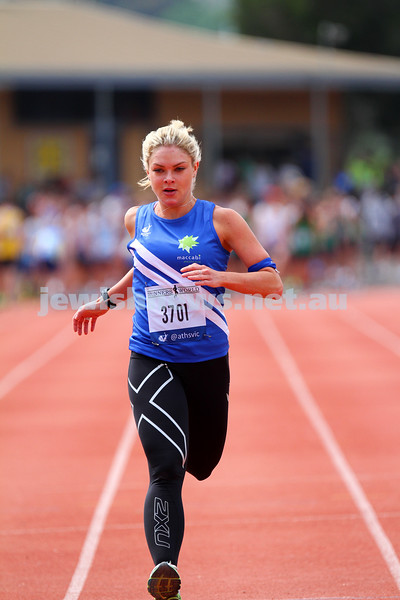 25-10-14. Maccabi Athletics. Athletics Victoria Shield, Knox. Amanda Kramer.  Photo: Peter Haskin