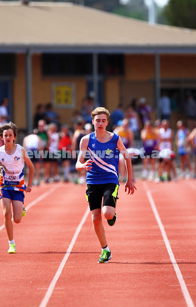 25-10-14. Maccabi Athletics. Athletics Victoria Shield, Knox. Gideon Goldberg.  Photo: Peter Haskin