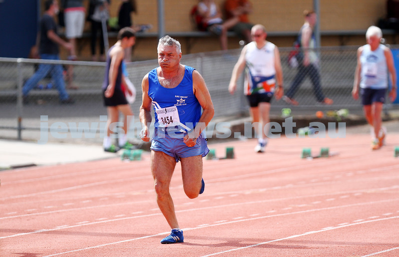 25-10-14. Maccabi athletics. Athletics Victoria Shield. Knox Athletics Track. Myer Vorchheimer. Photo: Peter Haskin