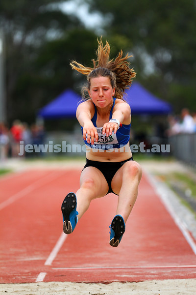 25-10-14. Maccabi Athletics. Athletics Victoria Shield, Knox. Piper Montag.  Photo: Peter Haskin