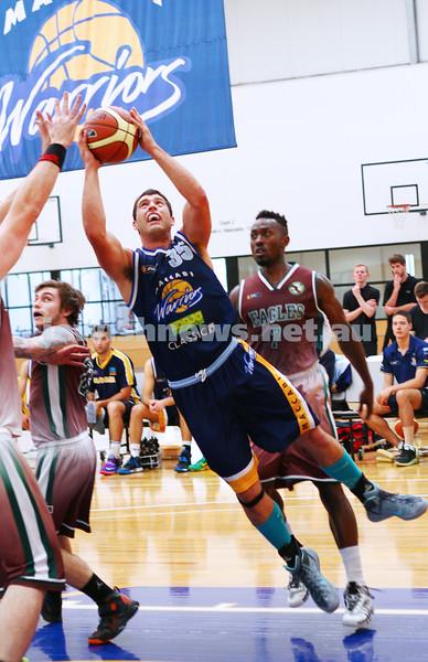 22-3-15. Maccabi Warriors v Craigieburn Eagles at Bialik College.  Daniel Dreshpul. Photo: Peter Haskin