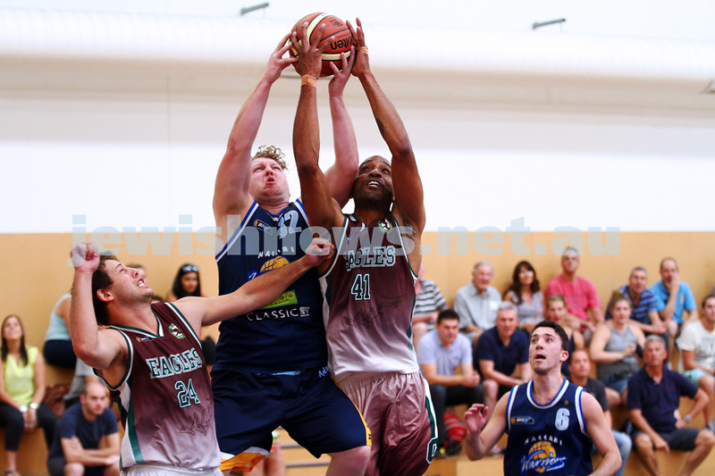 22-3-15. Maccabi Warriors v Craigieburn Eagles at Bialik College.  Ben Smart.  Photo: Peter Haskin