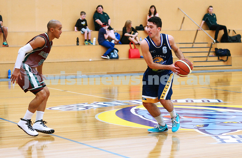 22-3-15. Maccabi Warriors v Craigieburn Eagles at Bialik College.  Gavin Katz. Photo: Peter Haskin