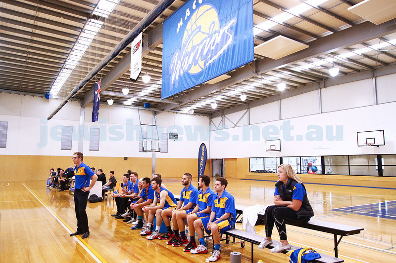 22-5-16. Maccabi Warriors lost to Pakenham Warriors 71 - 82 at Bialik Stadium.  Photo: Peter Haskin