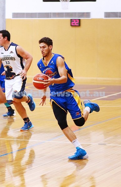 22-5-16. Maccabi Warriors lost to Pakenham Warriors 71 - 82 at Bialik Stadium.  Yariv Amiram. Photo: Peter Haskin