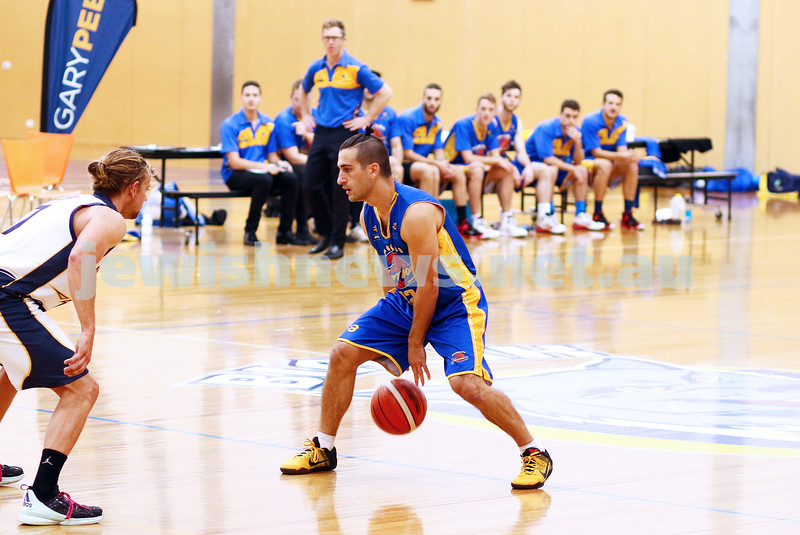 22-5-16. Maccabi Warriors lost to Pakenham Warriors 71 - 82 at Bialik Stadium.  Adam Klas. Photo: Peter Haskin