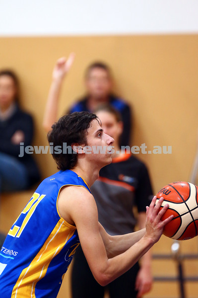 22-5-16. Maccabi Warriors lost to Pakenham Warriors 71 - 82 at Bialik Stadium.  Ben Polonsky. Photo: Peter Haskin