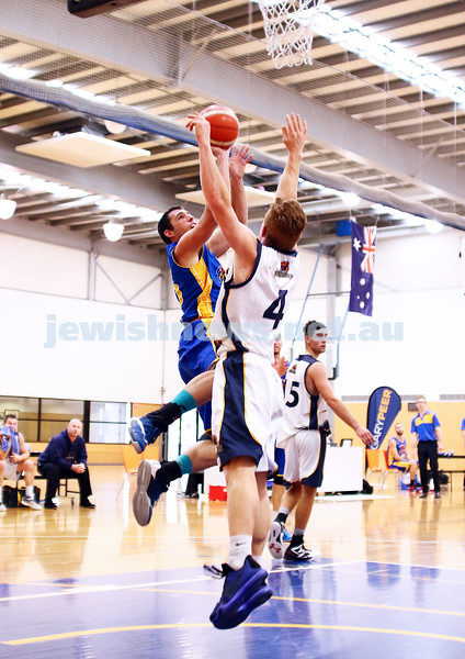 22-5-16. Maccabi Warriors lost to Pakenham Warriors 71 - 82 at Bialik Stadium.  Daniel Drehspul. Photo: Peter Haskin