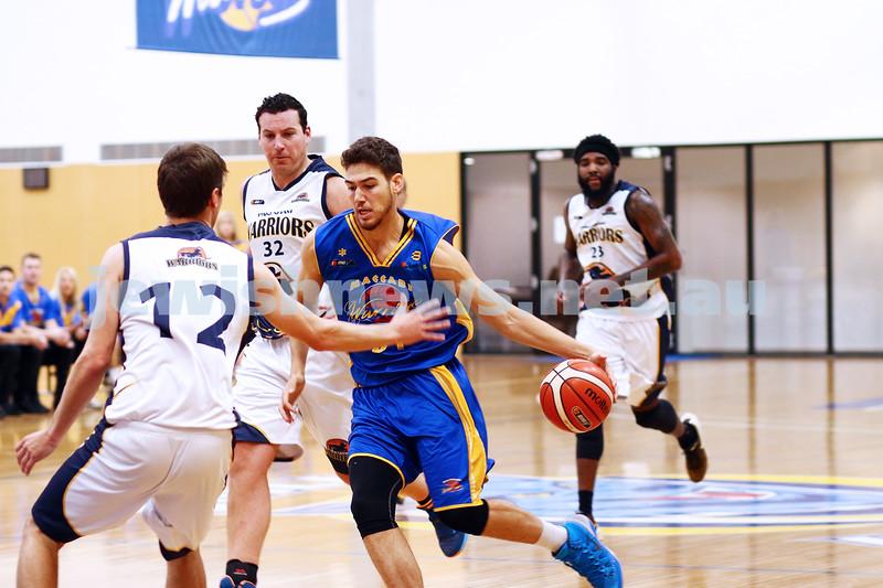 22-5-16. Maccabi Warriors lost to Pakenham Warriors 71 - 82 at Bialik Stadium.  Yariv Amiram. Photo: Peter Haskin
