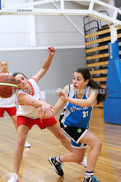 11-5-14. Maccabi Women Basketball. B Grade Warriors Blue lost to Hedgehogs 19 - 29.  Photo: Peter Haskin