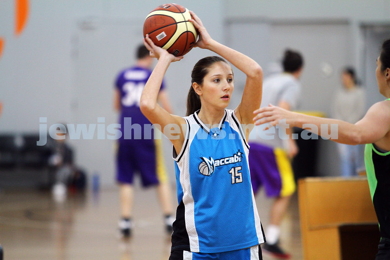11-5-14. Maccabi Women Basketball. A Grade Warriors lost to Emeralds 19 - 81.  Photo: Peter Haskin