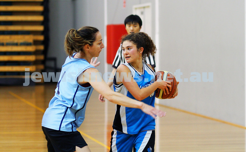 11-5-14. Maccabi Women Basketball. B Grade Warriors Gold def Albatross 22 - 10.  Photo: Peter Haskin