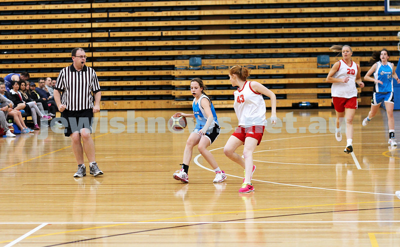 11-5-14. Maccabi Women Basketball. B Grade Warriors Blue lost to Hedgehogs 19 - 29.  Photo: Peter Haskin