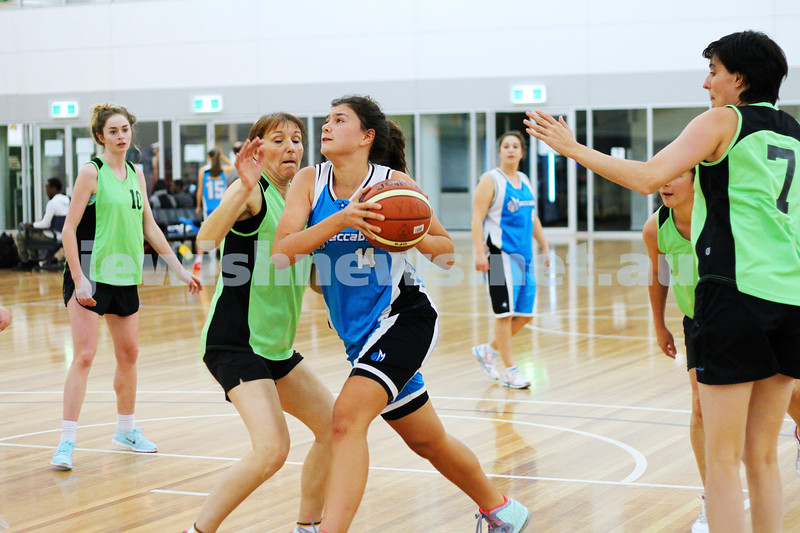 11-5-14. Maccabi Women Basketball. A Grade Warriors lost to Emeralds 19 - 81.  Photo: Peter Haskin