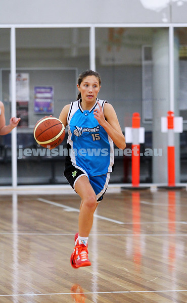 13-7-14. Maccabi basketball. Women's A Grade Warriors lost to White Eagles 26-44 at MSAC. Photo: Peter Haskin