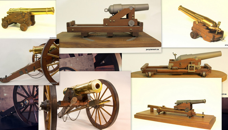 Model Civil War Cannons