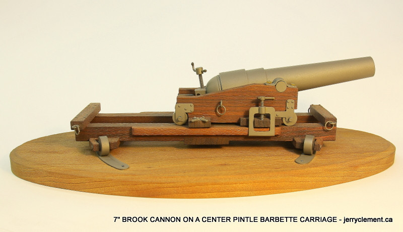 7' Brook Cannon oOn A Center Pintle Barbette Carriage