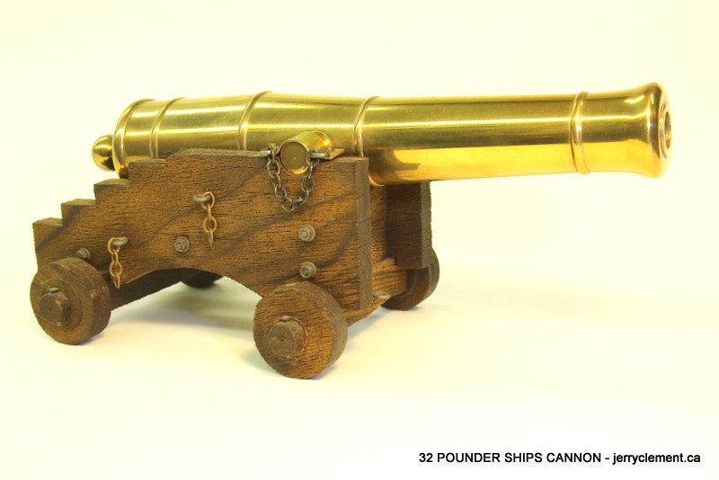 32 pounder ship's cannons
