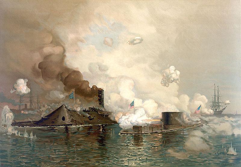 Battle Of The Ironclads - USS Monitor vs USS Virginia